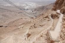 Huikeat näköalat Masadalta