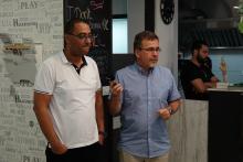 Connect-kahvilassa Betlehemissä