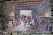 Katsrinin rajakylä, seinämaalaus